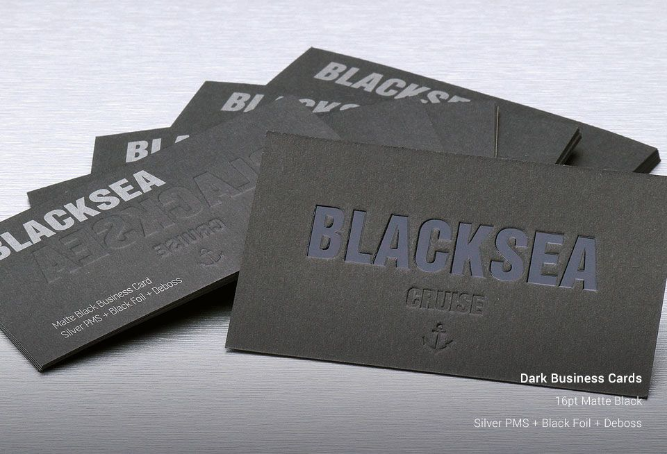 dark business cards allstickerprinting