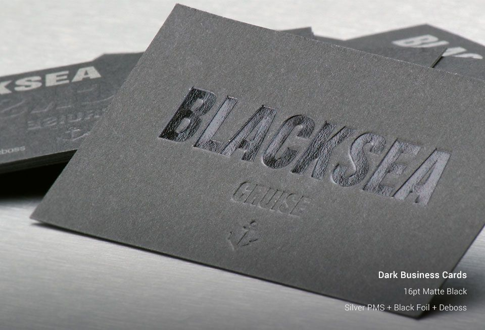 Dark Business Cards | AllStickerPrinting
