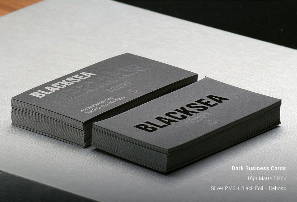 AllStickerPrinting | Dark Business Cards