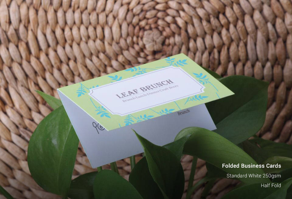 Folded Business Cards | AllStickerPrinting