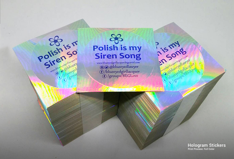 printed customized hologram stickers gallery