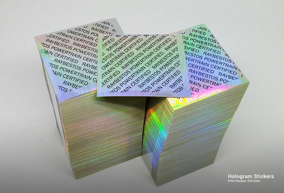 how to make a hologram sticker at home