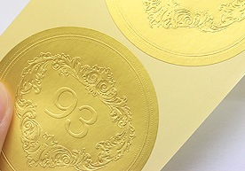 Arlington Custom Embossed Paper Stickers Printing