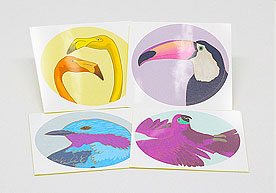 Bird Circle Kiss Cut Art Paper Stickers