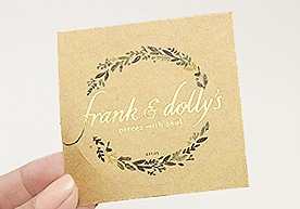 Frank & Dolly's Circle Kiss Cut Kraft Paper Stickers