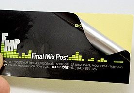 Final Mix Post Die Cut Silver Vinyl Stickers