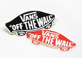 Vans Off the Wall Custom Die Cut Bumper Stickers