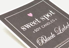 Sweet Spot Soy Candles Black Label Clasic Paper Stickers