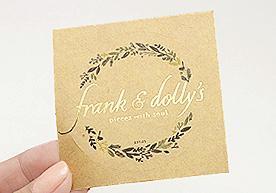 Frank & Dolly's Circle Kiss Cut Kraft Paper Stickers