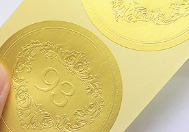 Anniversary Gold Sheet Embossed Stickers