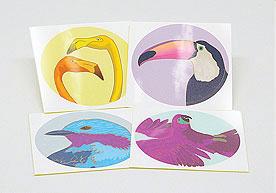 Bird Circle Kiss Cut Art Paper Stickers