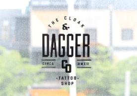 The Cloak & Dagger Circa MMXII Tattoo Shop Vinyl Lettering Decals