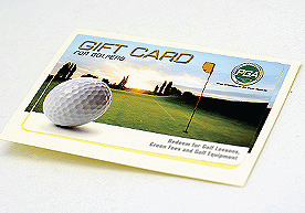 PGA Tour Golf Gift Card Kiss Cut Standard Vinyl Stickers