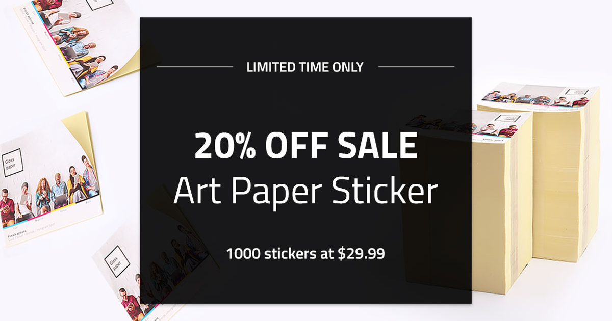 Art paper stickers nycs cheapest custom paper sticker printing glossy matte or uncoated paper stickers allstickerprinting