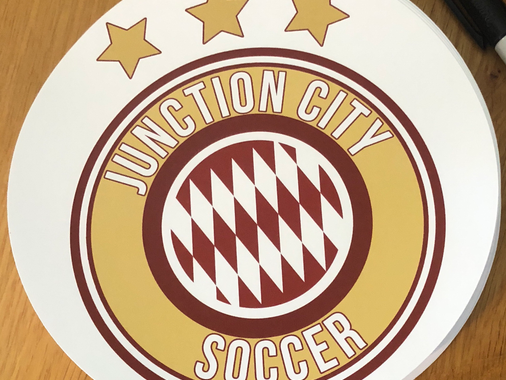 Soccer team stickers