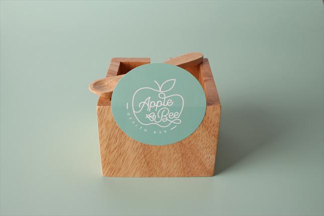 apple and bee custom stickers