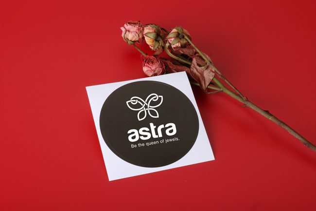 astra rounded shape stickers