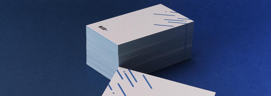 Bleu Custom Business Card
